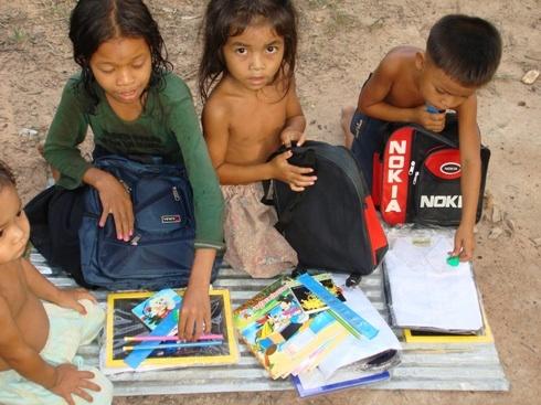 Cambodia donation school gear